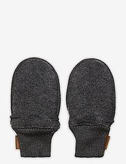 Mikk-Line - Wool Mittens - uldtøj - anthracite melange - 1