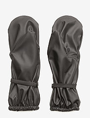 Mikk-Line - PU RAIN mittens with fleece - vintertøj - 190 black - 1