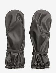 Mikk-Line - PU Rain Mittens w. Fleece - 190 black - 1