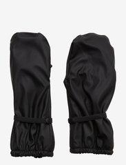 PU Rain Mittens w. Fleece - BLACK