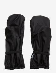Mikk-Line - PU RAIN mittens with fleece - vintertøj - black - 1