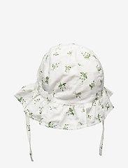 Mikk-Line - Summer Bucket Hat  Frill - Aop - solhat - white - 1