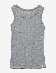 Mikk-Line - WOOL Top Boys - tops - pearl grey melange - 0