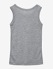 Mikk-Line - WOOL Top Boys - tops - pearl grey melange - 1