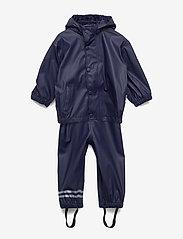 Mikk-Line - PU RAIN Set w. Susp/98 - sets & suits - 286/dark marine - 0