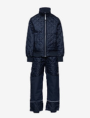 Mikk-Line - Termo set w. fleece in jacket - thermo - 286/dark marine - 0