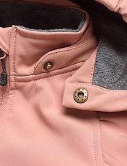 Mikk-Line - Softshell Girls Suit - softshells - burlwood - 4