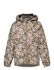 Softshell Girls Jacket w. Print - CAFE AU LAIT