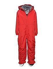 Nylon Junior Suit Solid - POMPEIAN RED