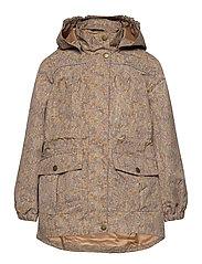 Polyester Tussor Girl Jacket AOP - CAFE AU LAIT
