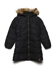 DOWN Girls coat - BLACK