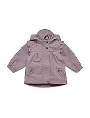 Nylon Baby Girls Jacket - ELDERBERRY