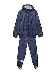 PU rainwear with fleece - DARK MARINE