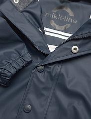Mikk-Line - PU Rain Set Recycled W SUSP - sets & suits - blue nights - 6