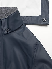 Mikk-Line - PU Rain Set Recycled W SUSP - sets & suits - blue nights - 8