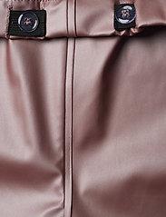 Mikk-Line - PU Metalic Rain Set Rec. w. Susp/110 - sets & suits - adobe rose - 9