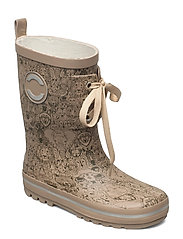 Printed Wellies w. Lace - DUNE