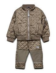 THERMO set w/fleece - 479 FALCON BROWN