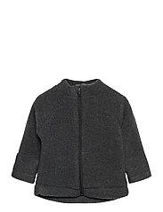 WOOL Baby jacket - ANTHRACITE MELANGE