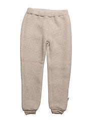 WOOL pants - 429/MELANGEOFFWHITE