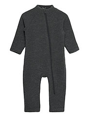 Wool Baby Suit - ANTHRACITE MELANGE