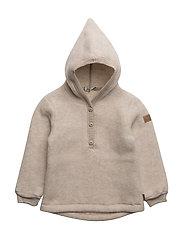 WOOL jacket w/hat - 429/MELANGEOFFWHITE