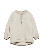 WOOL Baby pullover - 429/MELANGEOFFWHITE