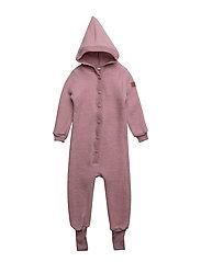 WOOL Baby suit w/hat - 509/WILDROSE