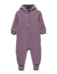 WOOL Baby suit w/hat - FLINT