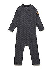 WOOL Baby suit Jacquard - BLUE NIGHTS