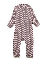 WOOL Baby suit Jacquard - FLINT