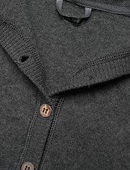 Mikk-Line - Wool Baby Suit w. Hood - basislag - anthracite melange - 4
