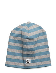 Striped hat cotton - 268 AEGEAN BLUE