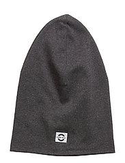 COTTON Long Hat - DARK GREY MELANGE