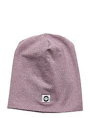 Cotton Lurex Hat - ELDERBERRY