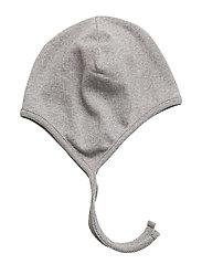COTTON Baby helmet - LIGHT GREY MELANGE