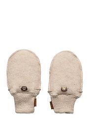 Wool Mittens - MELANGE OFFWHITE