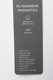 Mikk-Line - PU Rain Mittens w. Fleece - 190 black - 2