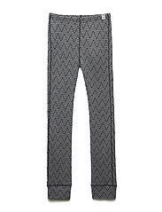 WOOL Jacquard pants - LANCASTER GREY MEL