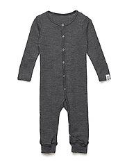 WOOL Baby LS suit - LANCASTER GREY MEL