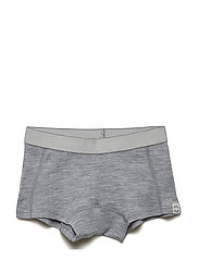 Wool Girls Shorts - PEARL GREY MELANGE