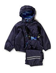 PE Rainwear with fleece lining