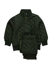 Termo set w. fleece in jacket - ARMY GREEN