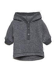 Baby Wool Jacket with hat - 916/Melangegrey