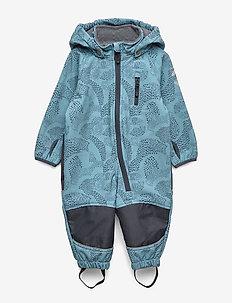 Softshell Boys Suit w. Print - softshells - blue heaven