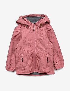 Softshell Girls Jacket w. Print - HEATHER ROSE