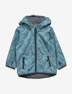 Softshell Boys Jacket w. Print - veste softshell - blue heaven
