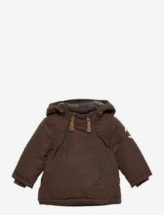 Nylon Baby Jacket - Solid - gewatteerde jassen - chocolate brown