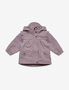 Nylon Baby Girls Jacket - shell jacket - elderberry
