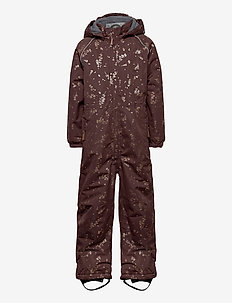 Polyester Junior Suit AOP - snowsuit - puce brown
